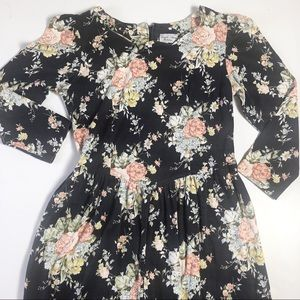 US Vintage 1990s Blossom Sakura Floral Asian Retro Grunge Boho Hippie Bodycon Mini Dress Sz 79
